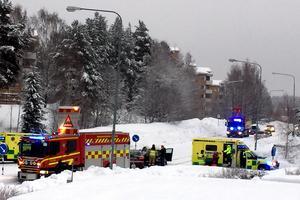 Fem personer var inblandade i olyckan.Bild: Läsarbild