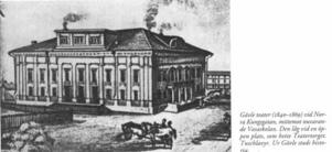 Gävle teater, hann bara användas i 30 år. Salongen rymde 600 åskådare och ansågs mycket modernt byggd.