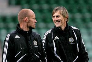 Joel Cedergren och Karl Ståhl var tränare tillsammans i GIF:s talangverksamhet. Bild: Mårten Englin.
