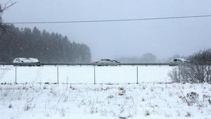Olycka på E4:an  i höjd med Bränninge gård, precis söder om Pershagen