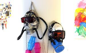 Susanne Torstensson har influerats av estetiken i Mad Max-filmerna när hon skapat sina masker.