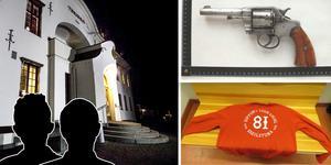 Duon åtalas för bland annat grovt vapenbrott vid Hudiksvalls tingsrätt. Bilder: Arkiv / polisens förundersökning (montage)