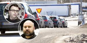 Christer Dahlenlund, Trafikverket, och Henrik Fredriksson, Roph Invest, är långt ifrån överens i Medskogsdebatten.