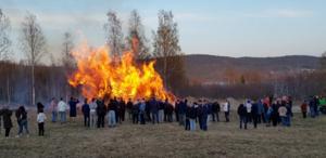 Majbrasan på Svanö  Foto: Gösta Johansson