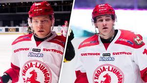 Tor Immo och David Rundqvist. Hockeyallsvenskans skyttekung och hans radarpartner. Foto: Simon Hastegård (Bildbyrån).