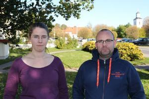 Stina Almberg är på plats i Bergsjö. Hon går parallellt med kollegan Per Bladh några veckor till innan han sticker.