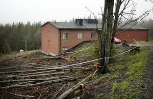 Polisen slog till mot en bunkerbyggnad i Grängesberg, Dalarna, i fredags.