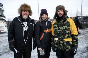 Dan Eriksson, Kim Ericsson och Kristian Pettersson från Sidensjö.