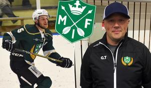 Emil Knuts är lagkapten och Göran Tärnlund tränare i Malung. Foto: Ronnie Carlsson och Oskar Magnusson