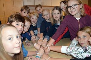 Klass 5A på Kvarnsvedens skola vill att diabetes ska kunna botas, precis som orden på armbanden de gjort säger.