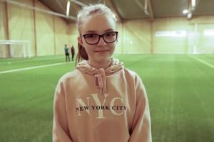 Irma Dellhem Dässman har spelat fotboll i två år.