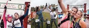 Sara Thunmarker Telde och Anna Klint glada efter målgångarna i Halvvasan, Cykelvasen45 och Ultravasan45.