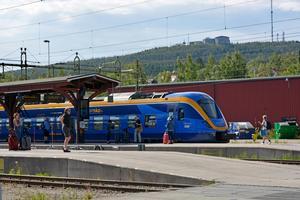 Det är stopp i tågtrafiken mellan Sundsvall och Härnösand.