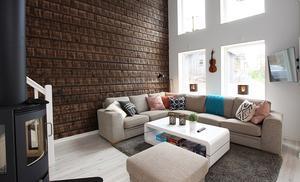 Även möblerna är miljövänliga på så sätt att allt har köpts second hand.