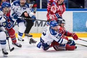Jesper Ollas har missat åtta matcher den här säsongen på grund av en överkroppsskada, men mot Västervik blev 33-åringen målskytt på nytt. Foto: Daniel Eriksson/Bildbyrån