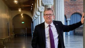 Foto: Jonas Ekströmer Thomas Persson, generaldirektör för Myndigheten för yrkeshögskolan presenterar en ny satsning på fredag.