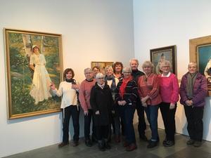 På Sven Harrys konstmuseum fanns mycket intressant att se.