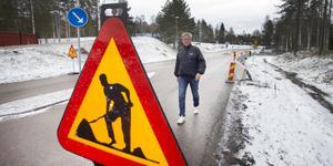 En för Sandvikenbor känd och farlig fyrvägskorsning byggs om till rondell: