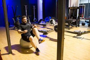 Krille Jonsson laddar inför en ny träningsvecka.
