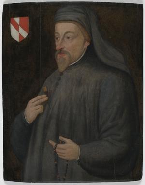 Den engelske medeltida diktaren Geoffrey Chaucer målad av en okänd 1600-talskonstnär.