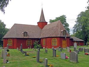 Hällefors kyrka uppfördes först som kapell 1645.Foto: Larske