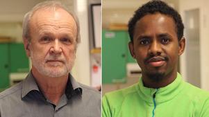 Bertil Johansson och Abdi Muhamed. Båda har kopplingar till ABF i Bräcke.