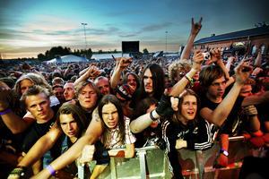 Motörhead spelar på Getaway-festivalen 2010.