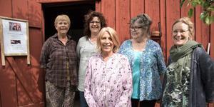 Från vänster:  Christina Arvidsson, Viola Hahne Lindholm, Annica Gunnarsson, Raili Peterson och Anneli Waern.