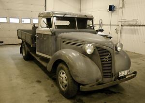Senaste tillskottet i samlingen, en Volvo L 201 K från 1949.