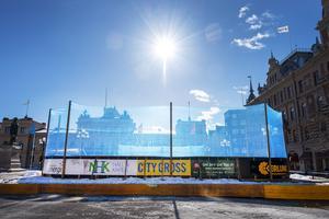 I tre månader har rinken stått på torget. Nu ska den monteras ner för att troligen sättas upp igen nästa vinter.