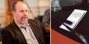 Erik Hultin (C) och oppositionen drev igenom en återremiss på förslaget om höjda parkeringsböter.
