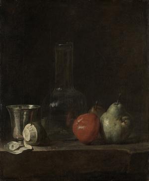 Stilleben av Jean-Baptiste-Siméon Chardin från 1728.
