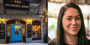 Jessica Bredin är inne på sitt andra år som pubchef på Bishops Arms.