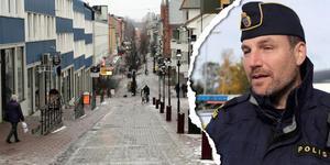Polismyndigheten har yttrat sig och sagt nej till att öppna gågatan för personbilstrafik igen. Foto: Jonny Dahlgren/arkiv