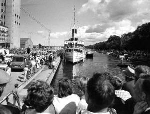5 000 personer hade kommit till Norrtälje hamn för att ta emot s/s Norrtelje den 27 juli 1968. I år firar hon därmed 50 år i hamnen.
