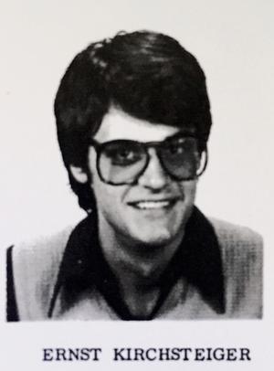 Ernst Kirchsteiger, inredare och tv-personlighet,  1L, Karolinska skolan läsåret 1975/76.