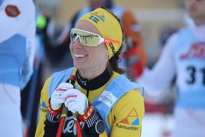 Lina Korsgren säkrade segern i damklassen under damernas 44 km.