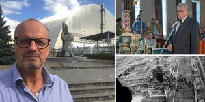 SVT-journalisten Peter Nässén (till vänster) åkte till Tjernobyl i september. Intresset för området och katastrofen har ökat efter att HBO:s miniserie