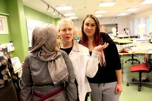 Aigul, Mia och Ellen har även läst karriärplanering och vet hur de ska gå vidare efter textilutbildningen.