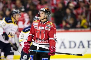 Mathias Bromé var frustrerad men såg ändå ljusglimtar efter att Örebro förlorat hemma mot HV71. Bild: Andreas Sandström/Bildbyrån