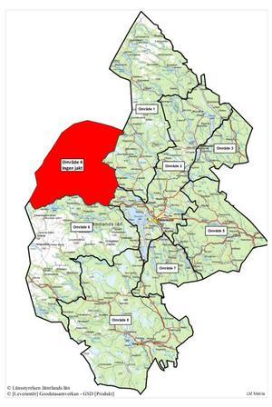 Karta från länsstyrelsen.