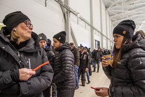 Vi håller på Bollnäs så klart förklarar Annsofie Nordqvist tillsammans med dottern Mikaela Rödin, Bollnäs.