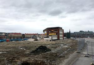 En stor del av de fastigheter som fanns på platsen är nu borta.