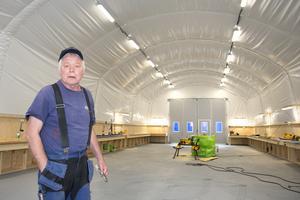 600 kvadratmeter småhusfabrik finns nu på plats bredvid XL-bygg i Sunnerby, Sorunda.