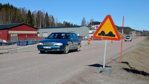 På måndag startar ett större vägarbete på gamla E4 mellan  Klockarberget  och Nolby.