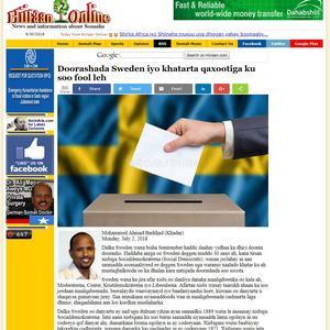 Den socialdemokratiske Örebropolitikern Mohammad Barkhad, s, har spridit lögner om sina politiska motståndare på somaliska hemsidor och sociala medier. Illustration: Hiiraan Online