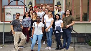 "Delegation från EU-Erasmus+ projektet ""Voluntary youth for rekognition for employability""."