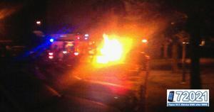 Bilbrand på Kungsfågelgatan