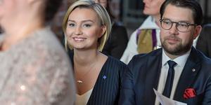 Ebba Busch Thor (KD) och Jimmie Åkesson (SD) under riksmötets öppnande. Foto: Janerik Henriksson