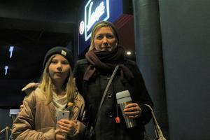 Åsa Andersson hade juldagsmys med dottern Vida-lin Andersson på Filmstaden.